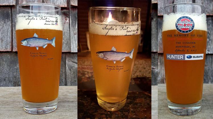 Chinook Salmon Angler's Pint